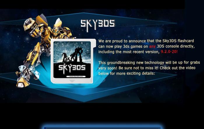 sky3ds flashcard